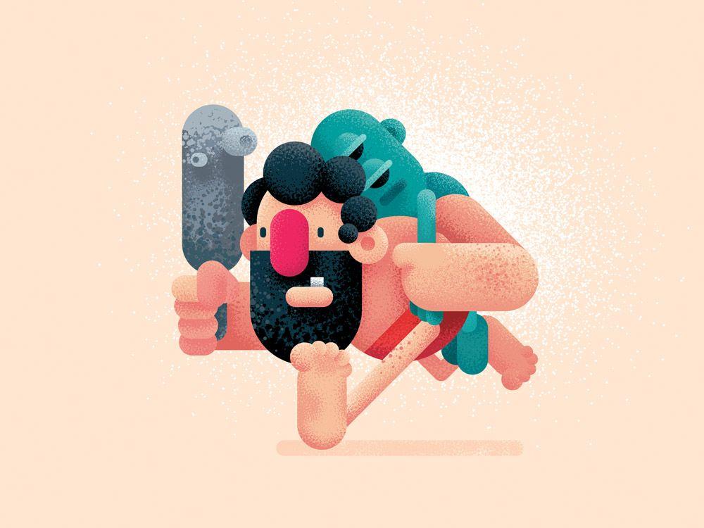 Grain Brushes Gigantic Flat Design Illustration And 2d Animation Flat Design Illustration Character Design Illustration Design
