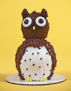 Forest Animal Themed Birthday Party Easy cake designs Easy owl