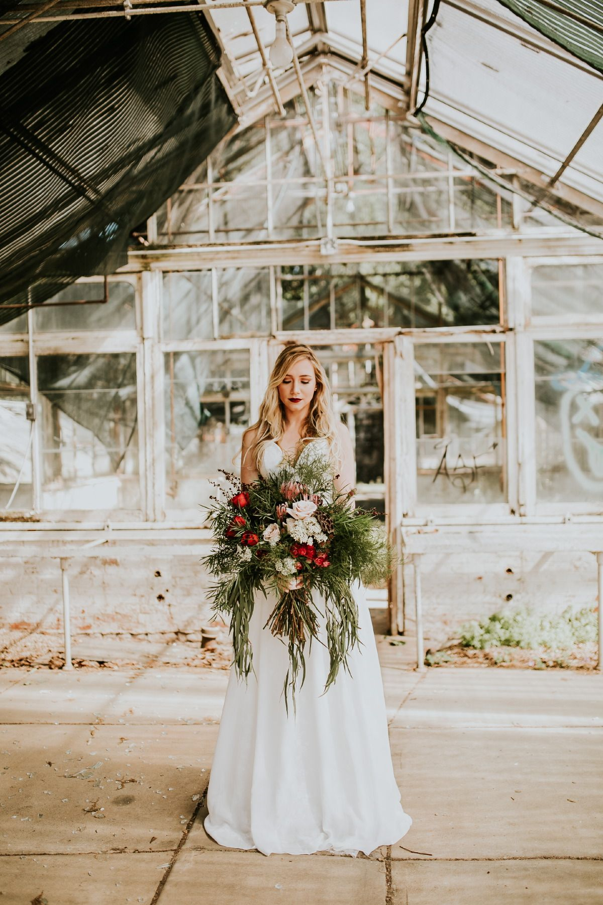 A few months ago I decided to put together a styled shoot. I found an abandoned greenhouse in Atlanta, gathered some amazing vendors and off we went. Flowers: Maria Schendzelos | MUA: Danina Nicole | Video: Yellow Bird Visuals | Scroll: Esther Clark | Invitation: Meg Brooks