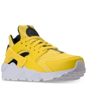 2621f6020ecd Nike Men s Air Huarache Run Running Sneakers from Finish Line - Yellow 9