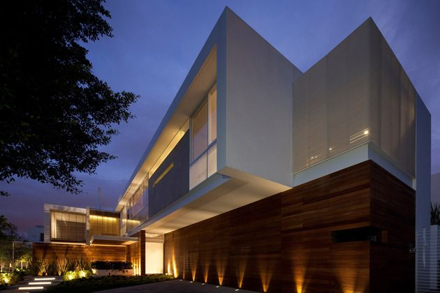 t shaped contemporary mexican house houses mansion buildings 2