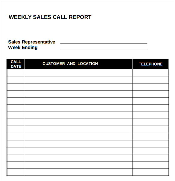 Daily Sales Call Report Template Free Download 1 Professional Templates Sales Report Template Planner Template Daily Planner Template