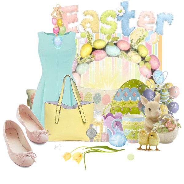 Ready for Easter Lunch by pusja76 on Polyvore featuring polyvore fashion style Olivia Burton Bling Jewelry Creed Essie Deborah Lippmann Lenox Pier 1 Imports Public Library