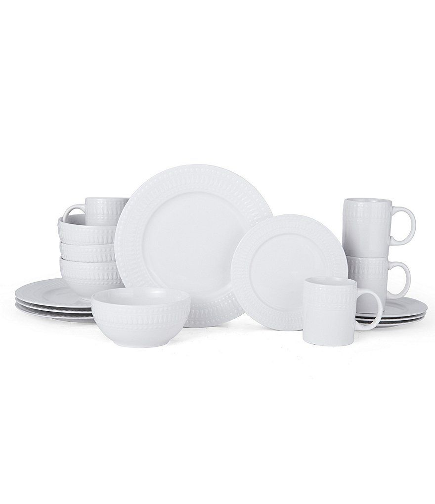 Gourmet Basics by Mikasa Adina 16-Piece Dinnerware Set | For the ...