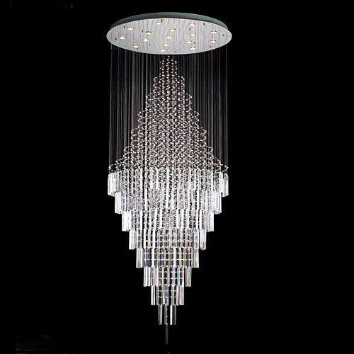 New Modern Contemporary Chandelier Rain Drop Chandeliers H 100