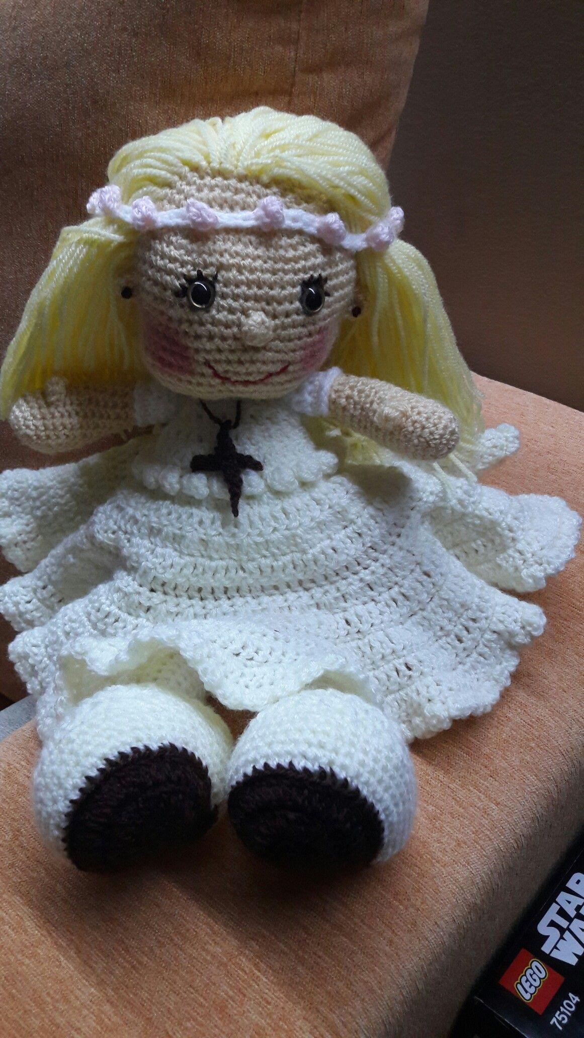 Muñeca de comunión. Para Alejandra