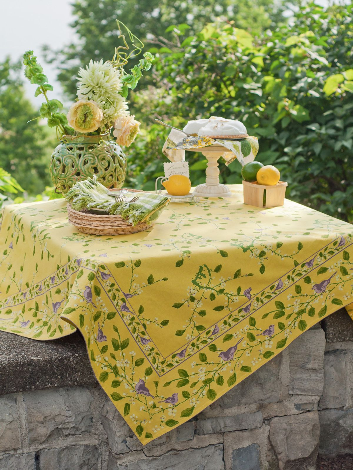Willow Branch Tablecloth Table Linens Kitchen Tablecloths