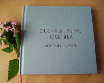 Our bucket list personalized first wedding anniversary gift