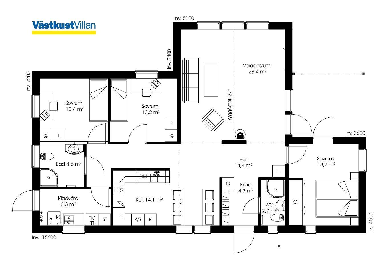 Schwedenhaus eingeschossig skandihaus 113 grundriss