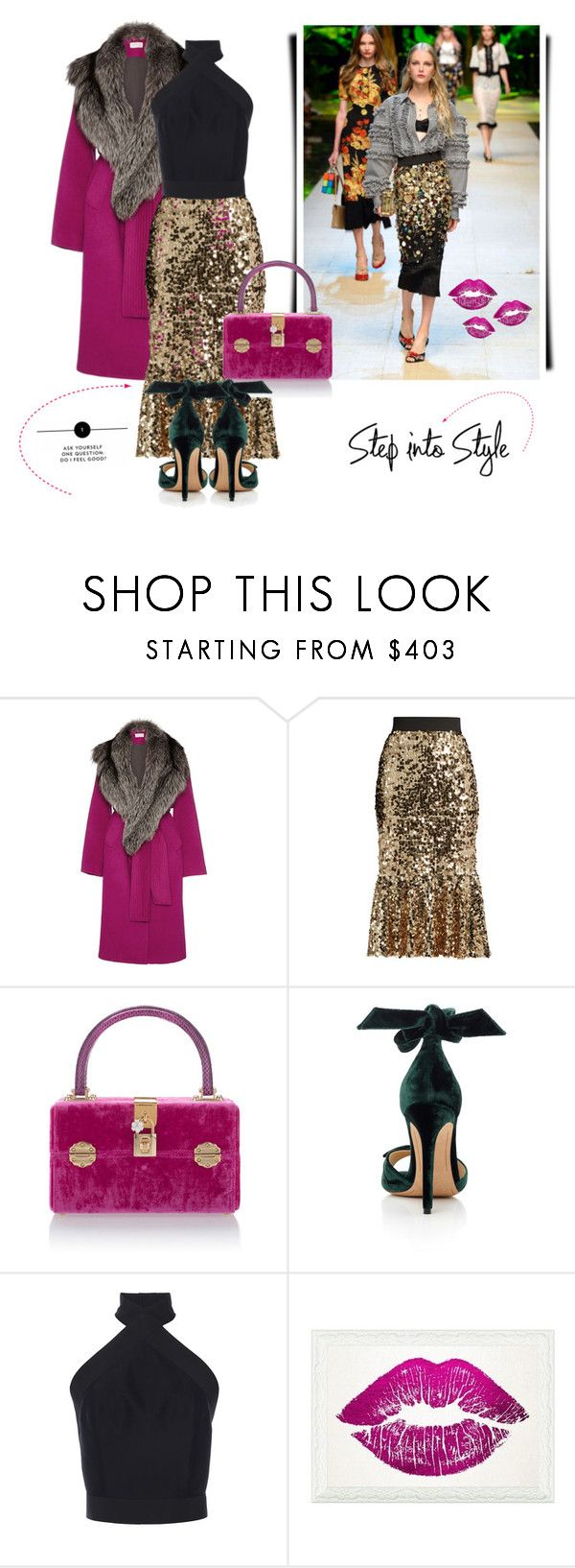 """""""You only live once. But if you do it right once is enough!"""" by curlysuebabydoll ❤ liked on Polyvore featuring Tanya Taylor, Dolce&Gabbana, Alexandre Birman, Martin Grant and Oliver Gal Artist Co."""