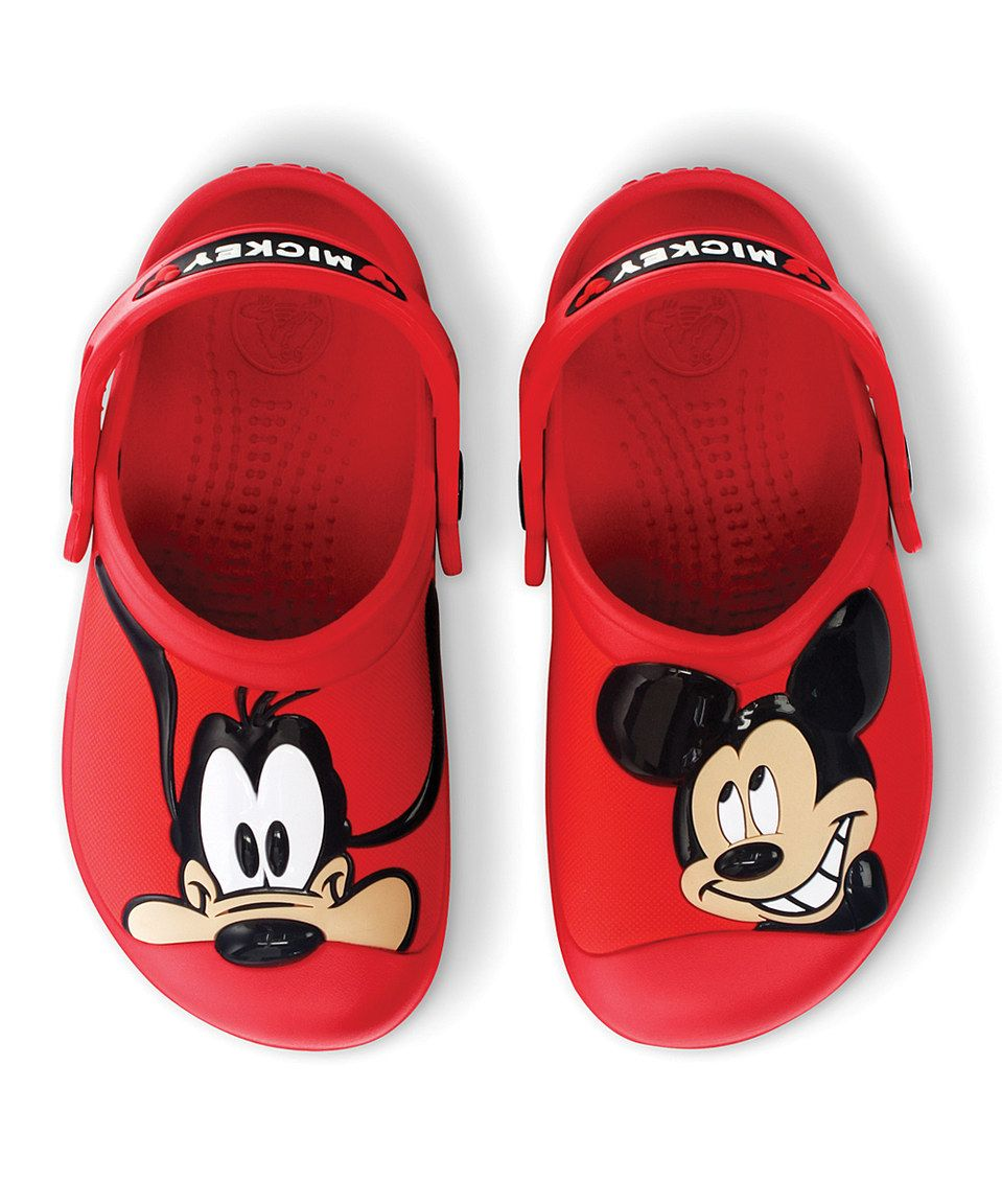 77e316ed9 This Crocs Red Mickey Mouse   Goofy Clog - Kids by Crocs is perfect!   zulilyfinds