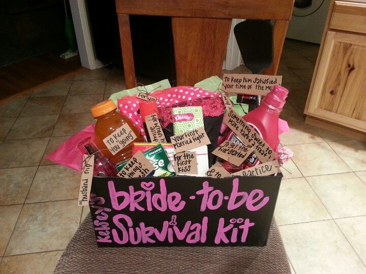 For My Friends Bachelorette Party I Made Her A Bride To Be Survival Kit