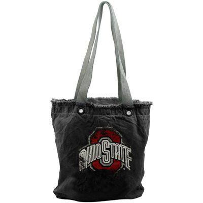 Ohio State Buckeyes Women s Vintage Shopper Bag - Black  8e351b20f69
