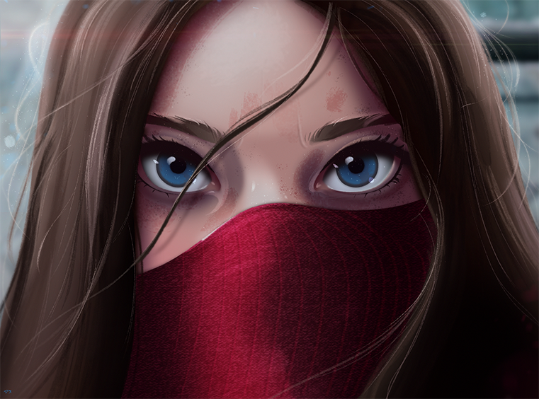 Cartoon Portrait Digital Art Digital Drawing Digital Painting Character Design Drawing Big Eyes Cute Digital Drawing Digital Painting Digital Art Girl