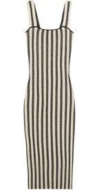 Roland MouretRowington striped stretch-cotton blend dress