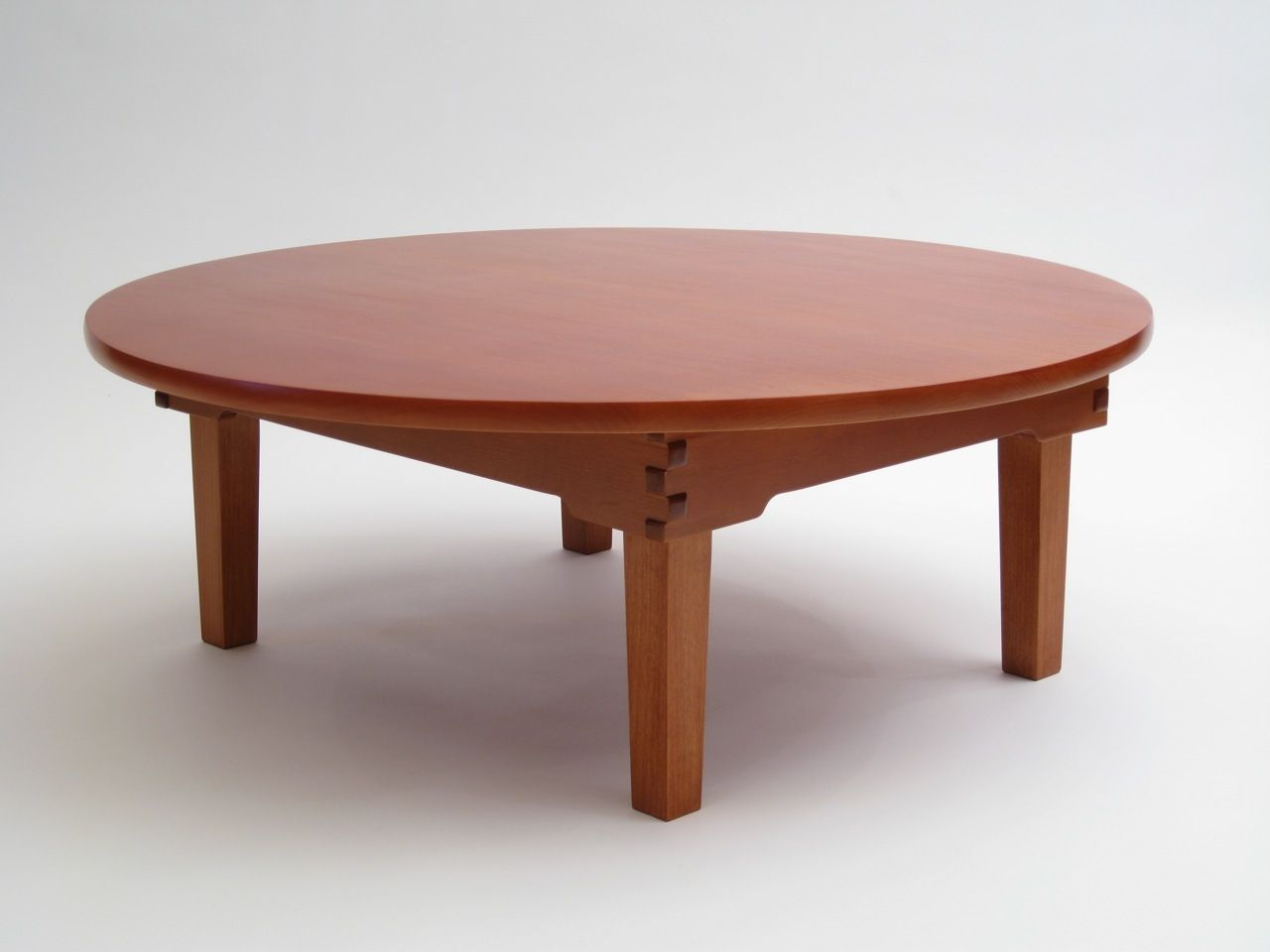 Round Table Bedroom Furniture: Custom Made Japanese Chabudai, A Low Folding Table
