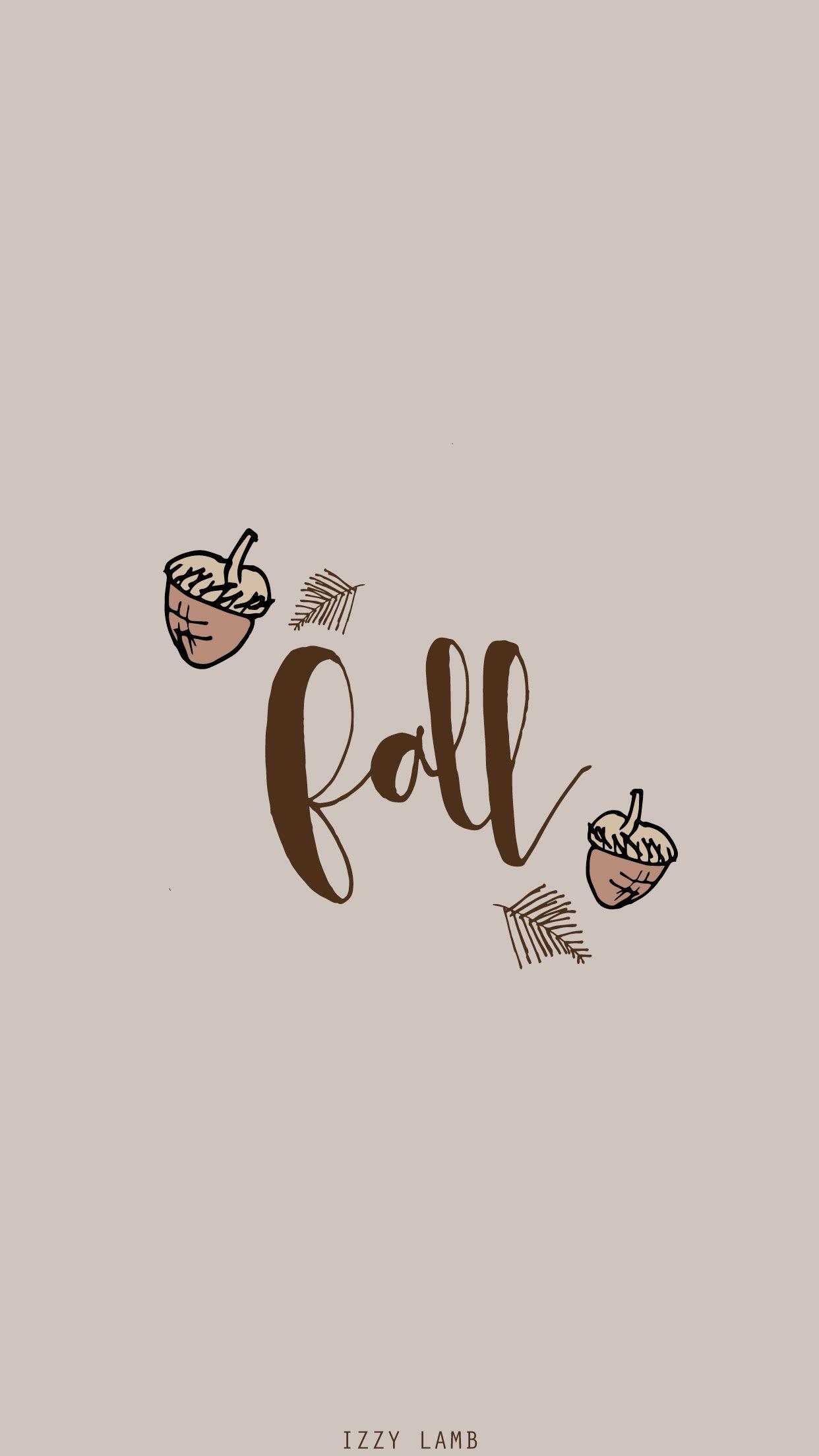 Fall Acorns Iphone Wallpaper Fall Cute Fall Wallpaper Fall Wallpaper
