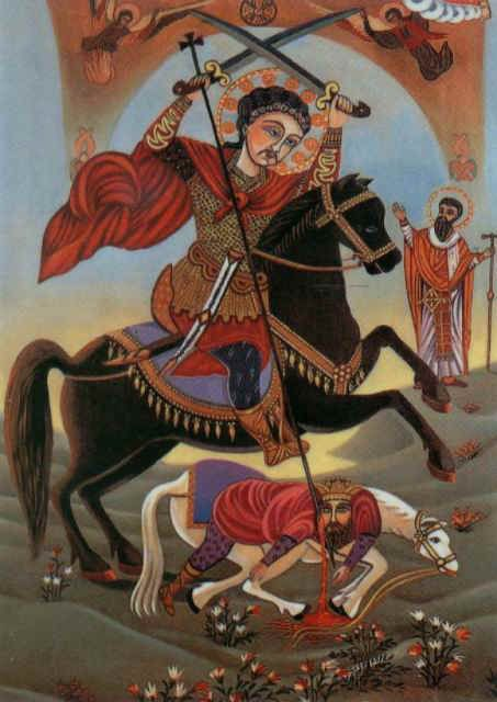 The Great Martyr St. Philopater Mercurius (Abu Sefein ...