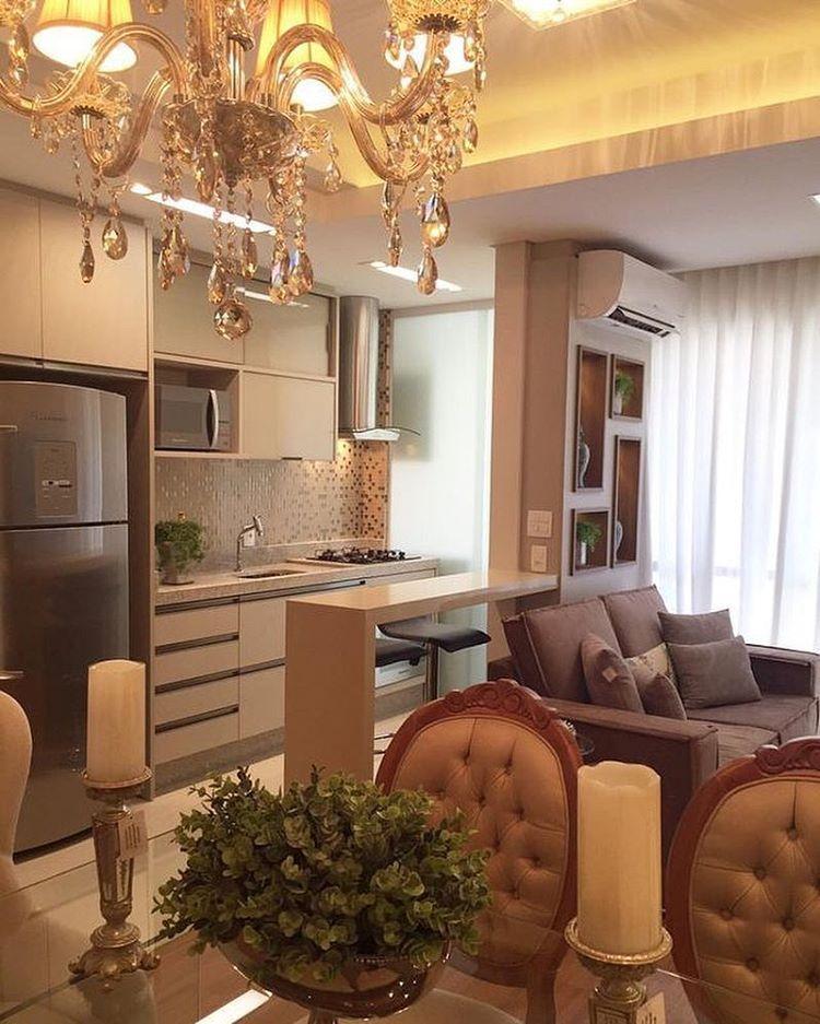 Elegante. #meuapedecor #apartment #apartamento #decoração #decoration  #inspiração #inspiration