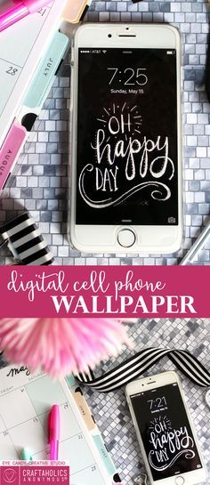 Craftaholics Anonymous® | DIY FREE Cell Phone Wallpaper pattern: who doesn't like this idea?