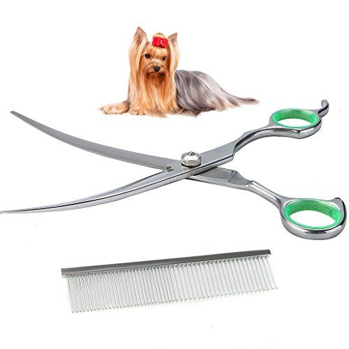 Dog Grooming Scissors Lovinpet Dog Scissors Grooming Curved Stainless Steel Pet Professional Safety Dog Grooming Scissors Dog Grooming Supplies Dog Grooming