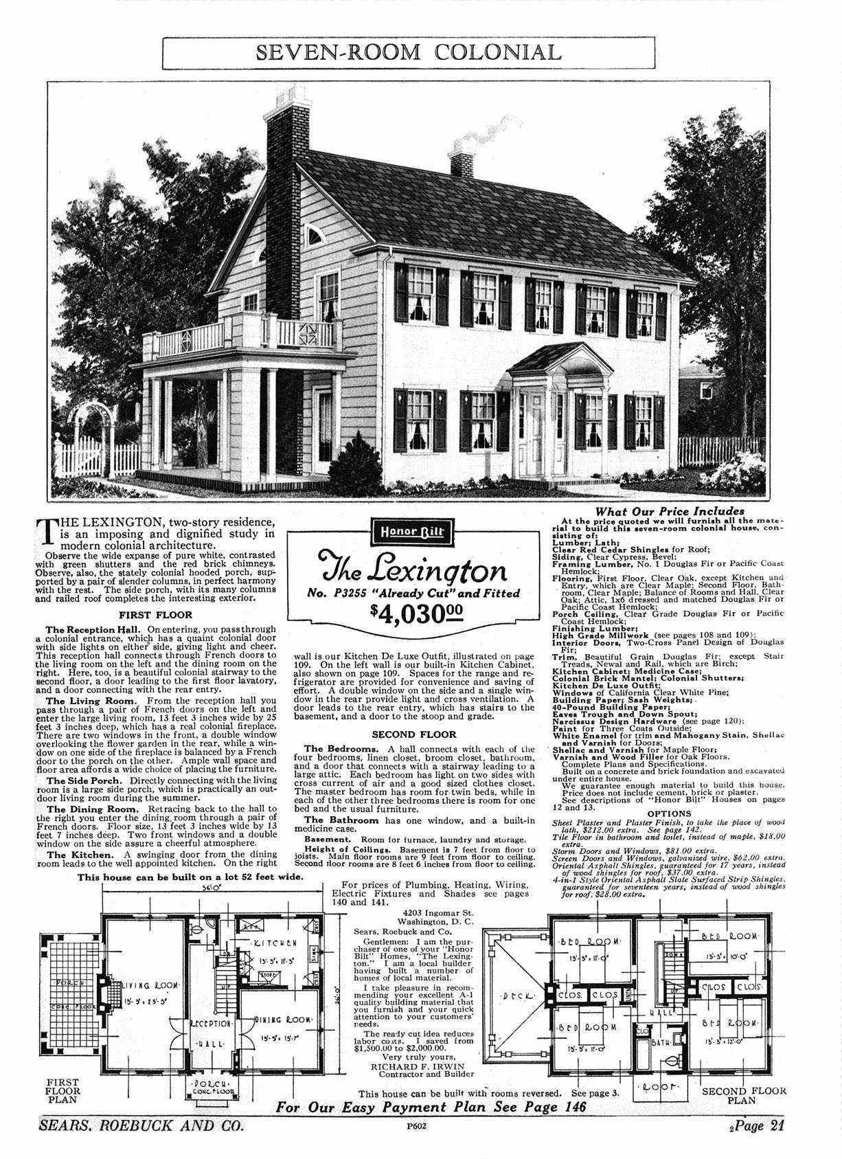 Sears Lexingtons For Sale Sears Catalog Homes House Plans Floor Plans