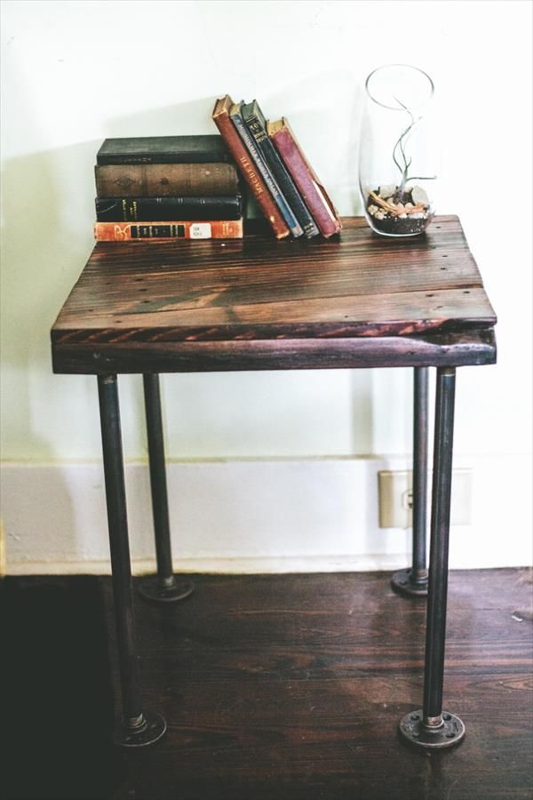 Diy pipe bedside table google search end tables pinterest diy pipe bedside table google search watchthetrailerfo