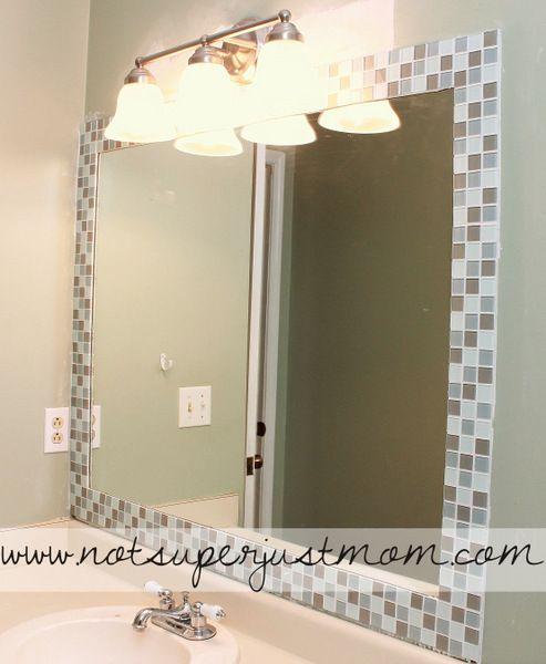 Creative Tile Mirror Frames Tile Around Mirror Tiled Mirror Diy Mirror Bathroom