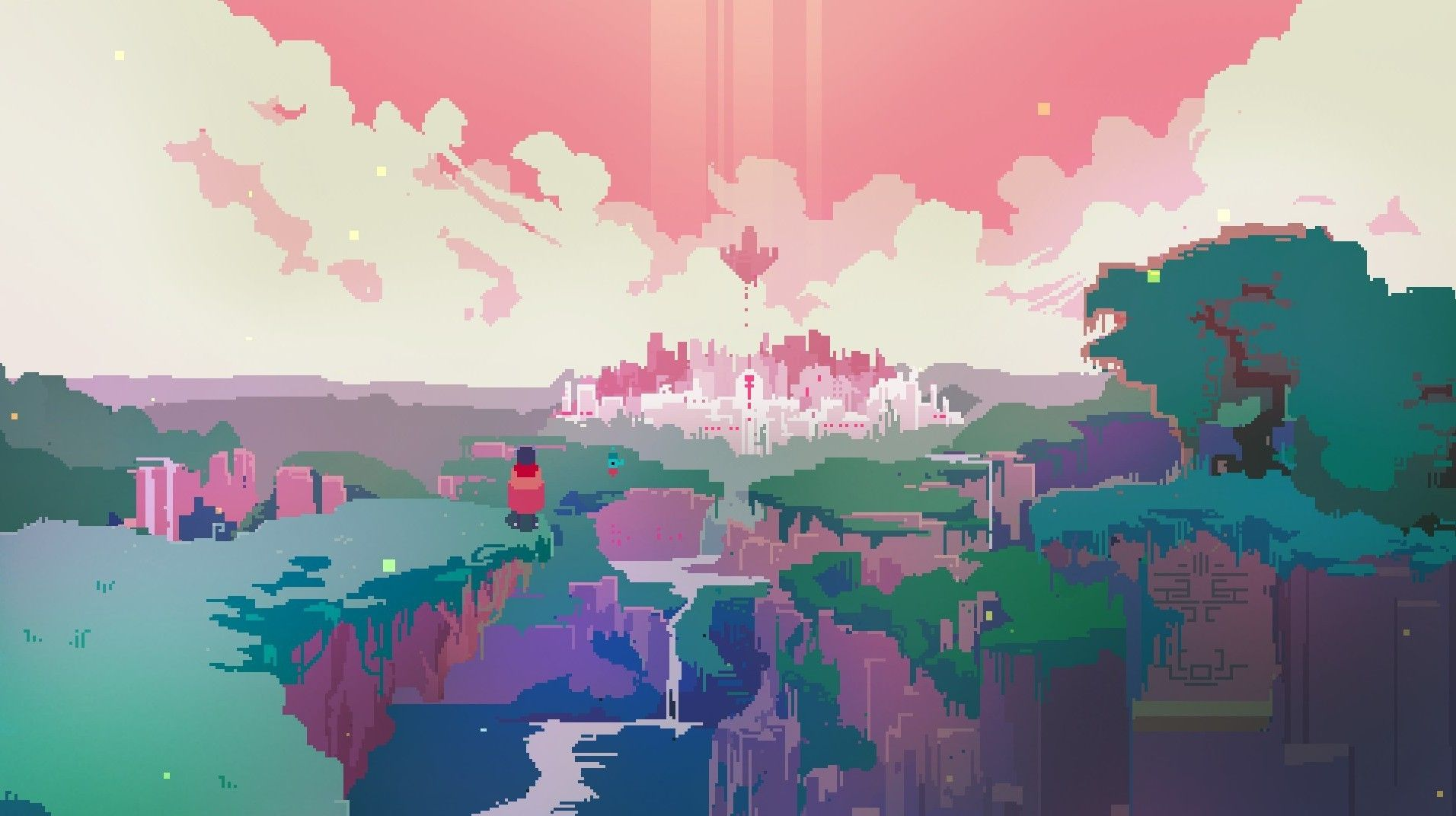 Download Hd Wallpapers Of 362482 Hyper Light Drifter Video Games Pixels Free Download High Quality And Wi Pixel Art Landscape Pixel Art Pixel Art Background