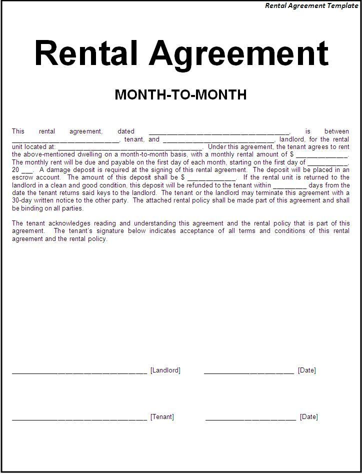 Basic Rental Agreement Check More At Httpscleverhippobasic