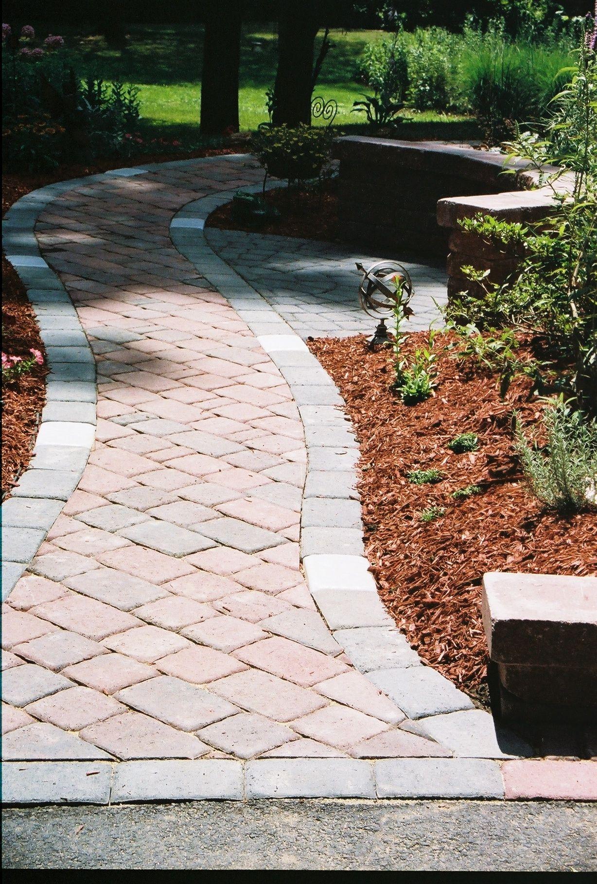 "paver walkway with 6""x9"" border"
