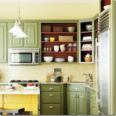 Kitchen With Open Cabinets - cosbelle.com