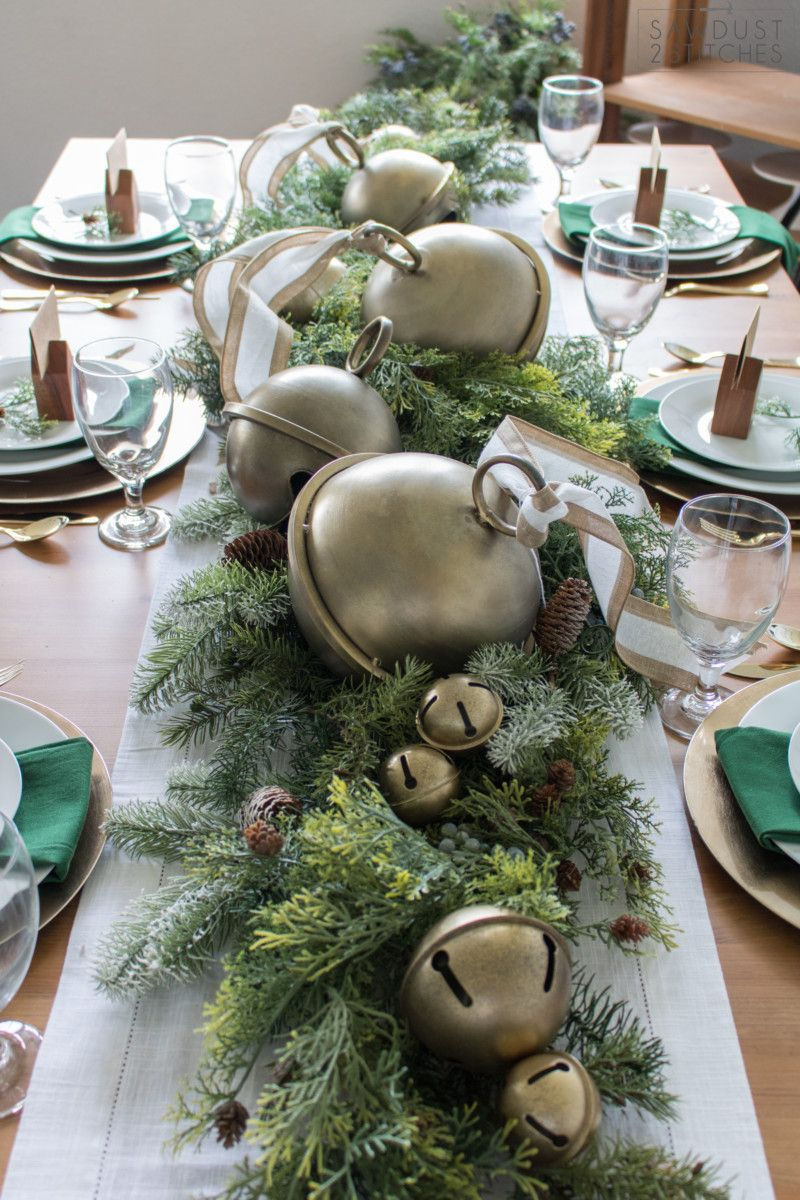 Holiday Home Tour 2018 Holiday Table Centerpieces Christmas Tablescapes Christmas Table Centerpieces