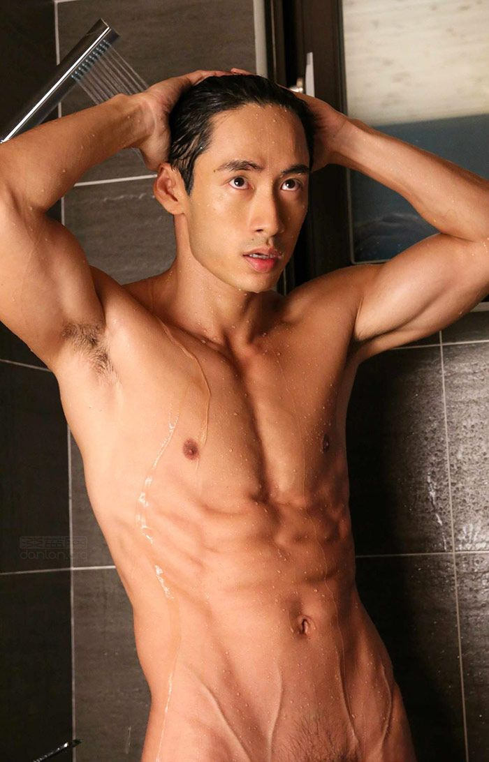 Asian men shower