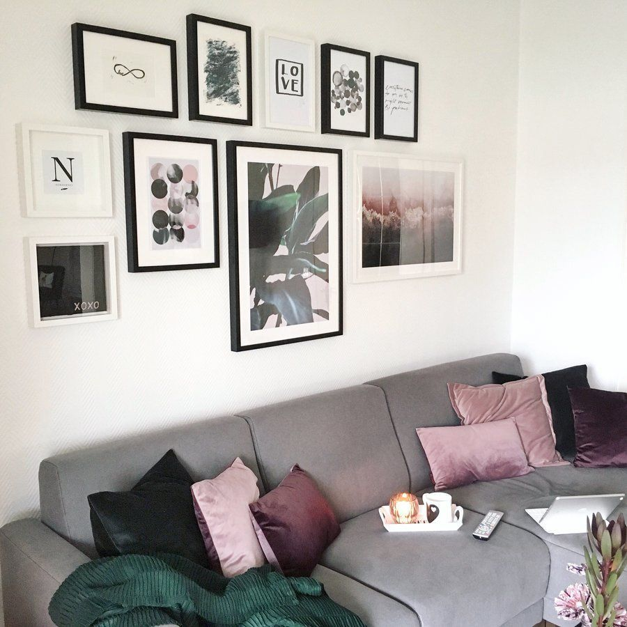 Grün und Pflaume - meine neue Farbkombi im Wohnzimmer | SoLebIch.de ...