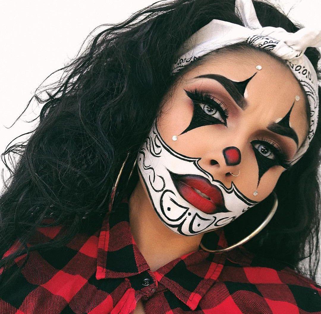 Pinterest Puregold340 Instagram Pure Gold340 Cute Halloween Makeup Halloween Makeup Clown Halloween Costumes Makeup