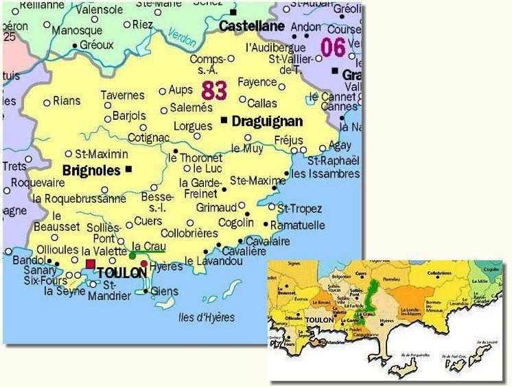 France Var de Provence Iles dHyres Porquerolles Island map