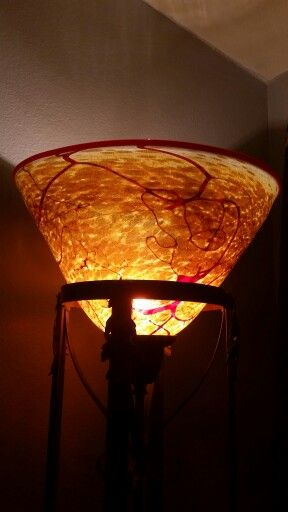 Beautiful amber and crimson red spattered torchiere lamp shade beautiful amber and crimson red spattered torchiere lamp shade custom made by nourot in benicia aloadofball Image collections