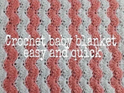 تعليم الكروشيه بطانية كروشيه للبيبى سهلة وسريعة How To Crochet Baby Blanket Youtube Crochet Easy Crochet Baby Blanket Crochet Tutorial