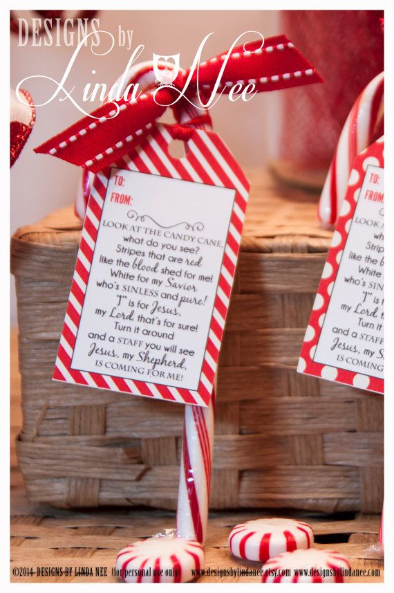 legend of the candy cane printable gift tags with poem that you