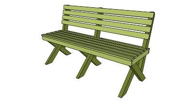 Sedia A Dondolo Per Bambini Mista : Free park bench plan woodworking merit badge