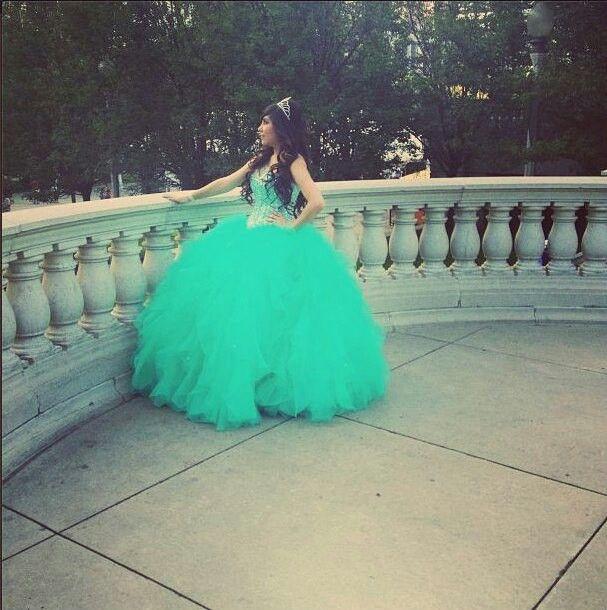 Teal Quinceanera dress   Quinceanera dresses   Pinterest ...