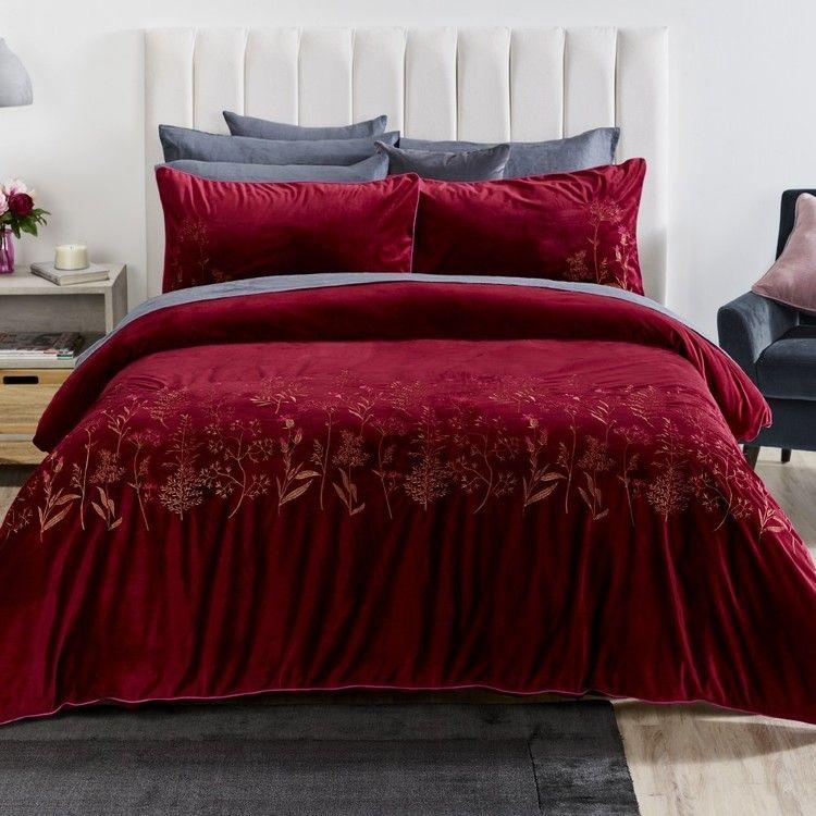 Koo Elite Scarlet Quilt Cover Set Red Quilt Cover Sets Quilt Cover Home