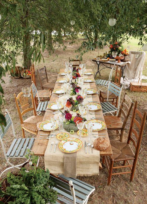 Das perfekte Dinner im Garten u2013 Ideen für die Tischdeko - FLAIR - gartenparty deko rustikal