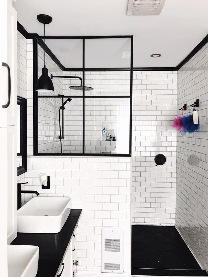 o trouver une porte de douche de style industriel sdb pinterest salle de bain salle et. Black Bedroom Furniture Sets. Home Design Ideas