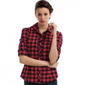 Red and black check shirts supplier and manufacturer | Women's ...
