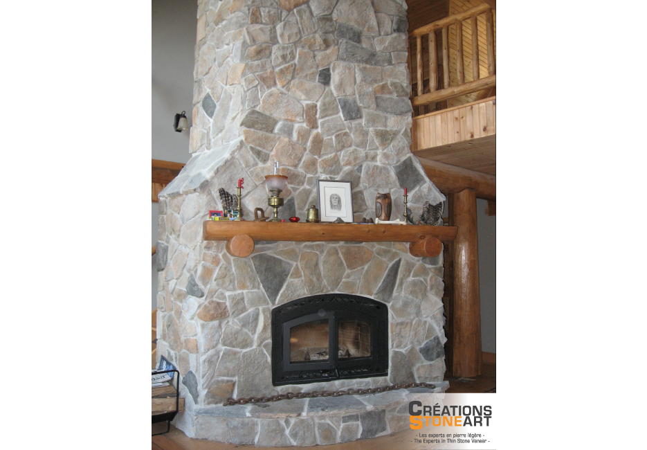 Flagstone Fireplace fireplace covered with cultured stone aspen dressed fieldstone and