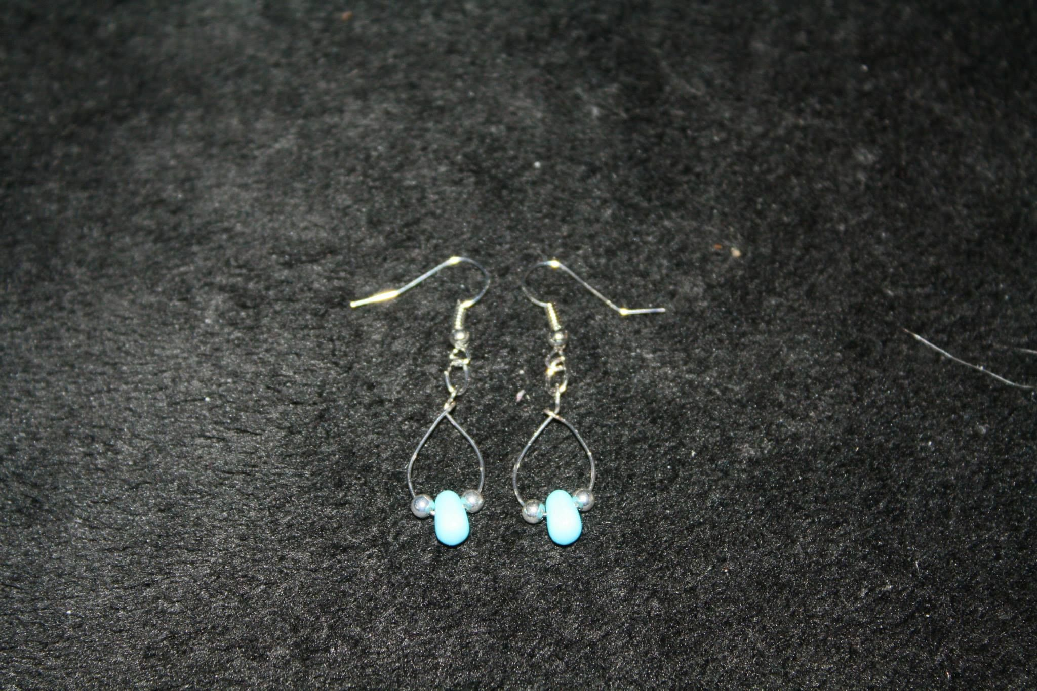 Silver & Turquoise Teardrop Earrings