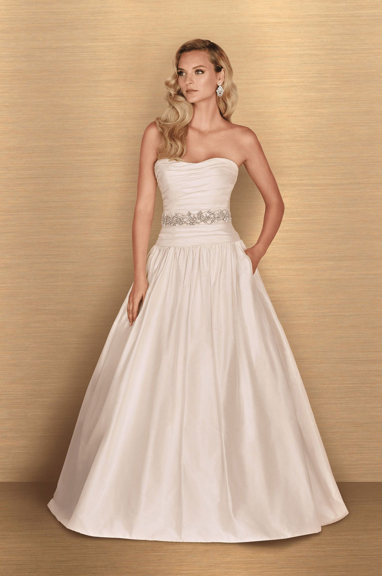 Drop Waist Wedding Dress Style #4654 in 2019 | Wedding