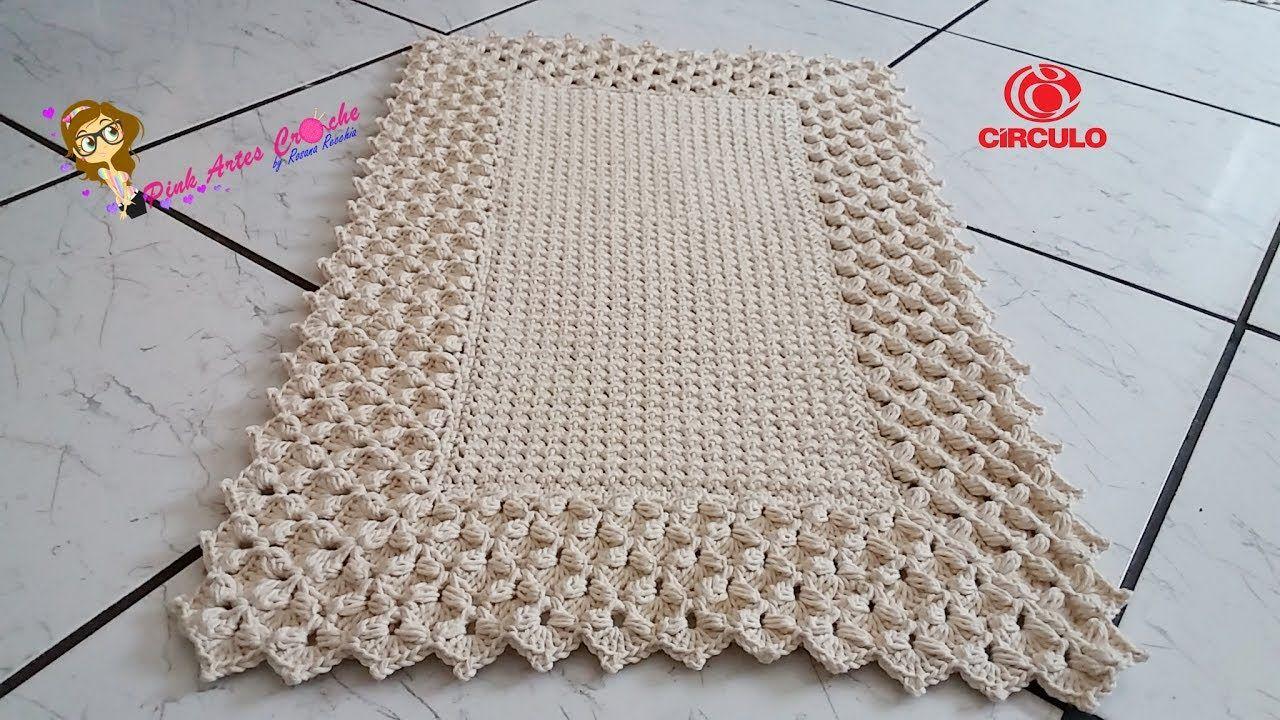 Tapete Pérola do Oriente Pink Artes Croche by Rosana Recchia ...